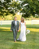 A Formal Yellow-and-Gray Rustic Wedding in Virginia