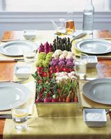 Vegetable Wedding Centerpiece