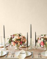 Tapered Dark Gray Candles