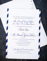 letterpresses wedding invitation