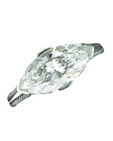 East-West Marquise-Cut Diamond Engagement Ring
