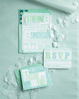 handcrafted wedding invitation