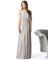 Silver & Gray Bridesmaid Dresses