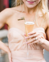 Woman Holding Toasting Flute