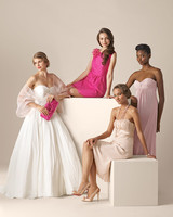 Wedding Gowns and Colorful Bridesmaid Dresses