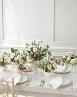 Flower and Strawberry Wedding Centerpiece