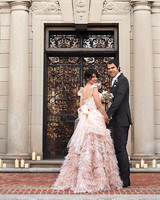 Colored Dresses from Real Weddings