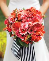 Red-Orange Wedding Bouquet