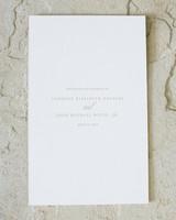 Classic Wedding Ceremony Programs