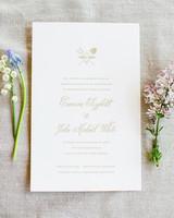soft cream wedding invitation