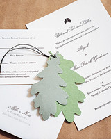 Paper Leaf Wedding Invitation Accents