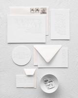 monotone wedding invitation