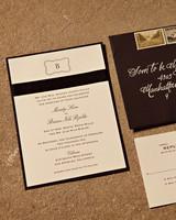 motif wedding invitation
