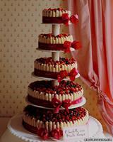 Berry and Ladyfinger Wedding Cake