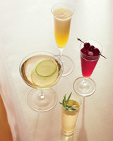 Champagne Cocktail Recipes for a Bridal Shower