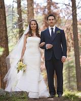 A Formal Green-Colored Outdoor Wedding in Colorado
