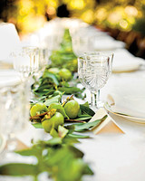 Green Fruit and Foliage Table Runner