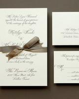 formal calligraphy wedding invitation