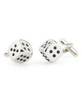 dice cufflinks