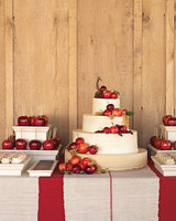 Wedding Cake With Apple Accents