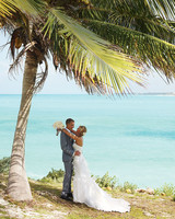 A White-and-Silver Destination Wedding on the Beach in the Bahamas