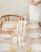 White Veneer Candleholders