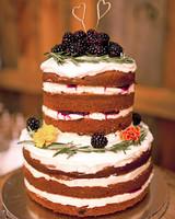 Blackberry and Pumpkin Wedding Cake