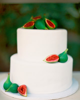 Vibrant Fig Wedding Cake