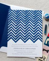 patterned wedding invitation