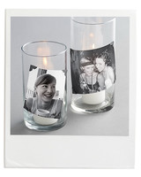 Candles with Photos Glued On