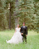 A Formal, Rustic Outdoor Wedding in Wyoming