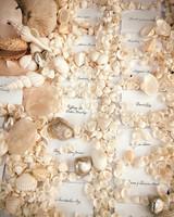 seashell escort card display