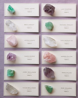 Gemstone Escort Cards