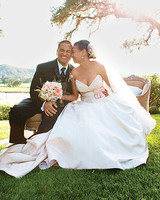 A Vintage Blush-Pink-and-Ivory Romantic Wedding Outdoors in California
