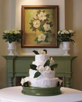 White Gardenia Wedding Cake