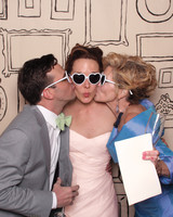 Wedding Guests in Photo Booth