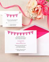 garland wedding invitation