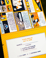comic wedding invitation