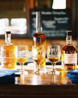 winter dessert bourbon bar
