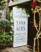 Ceremony Program Door Sign