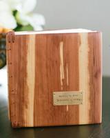 Wood Journal Guest Book