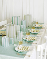 Green and Blue Paper Votive Covers