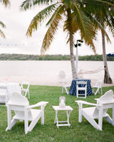 waterfront reception seating