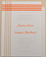 striped wedding invitation