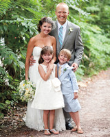 A Charcoal-and-Pale-Blue Garden Wedding in North Carolina