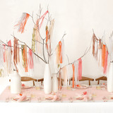 Metallic Fringed Branch Centerpiece
