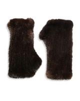 surrel fingerless mink gloves