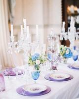 wedding plates candelabra