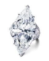Large Marquise-Cut Engagement Ring on Platinum Band