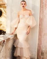 johanna ortiz moda operandi off the shoulder ruffle mermaid wedding dress